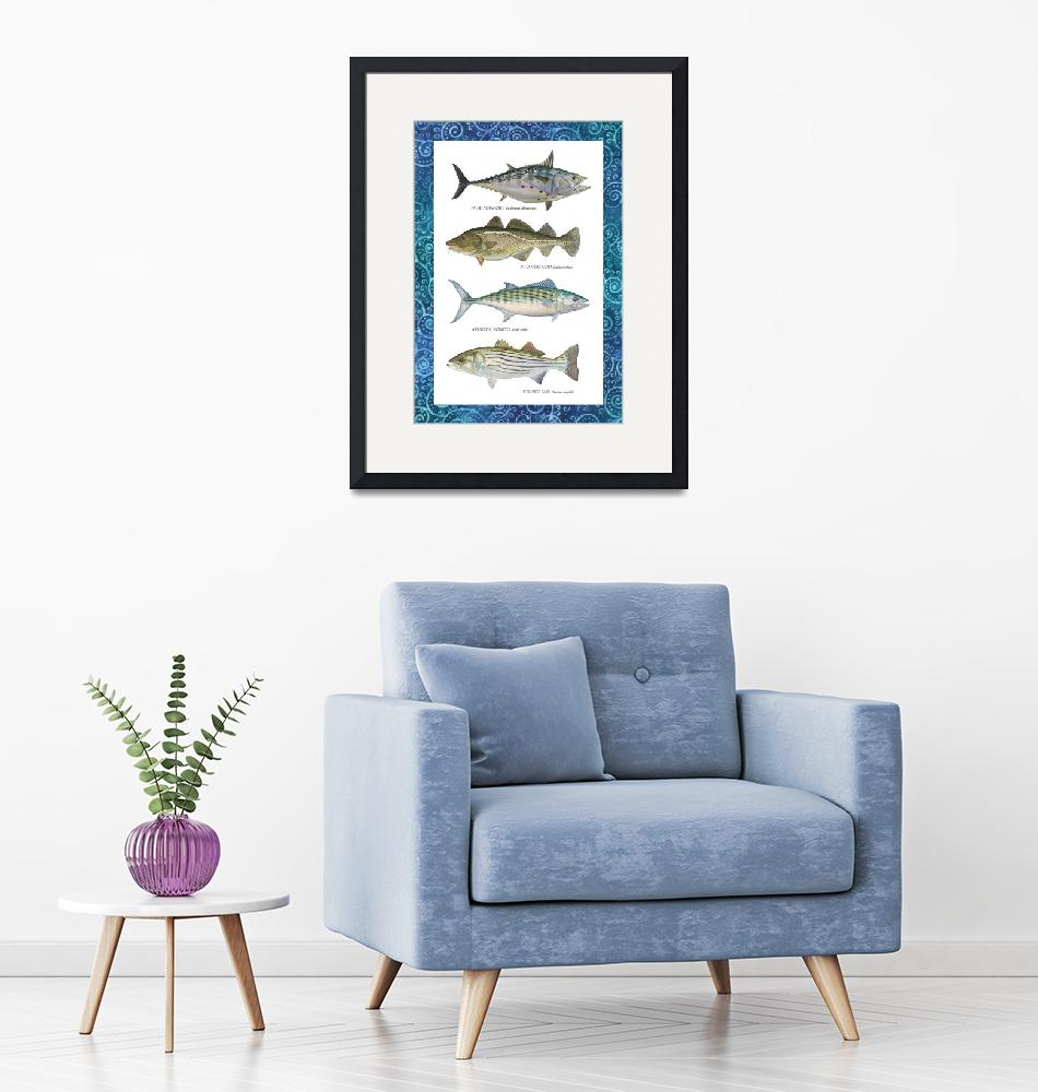 """""""Four Fish""""  (2017) by VanMoore"""