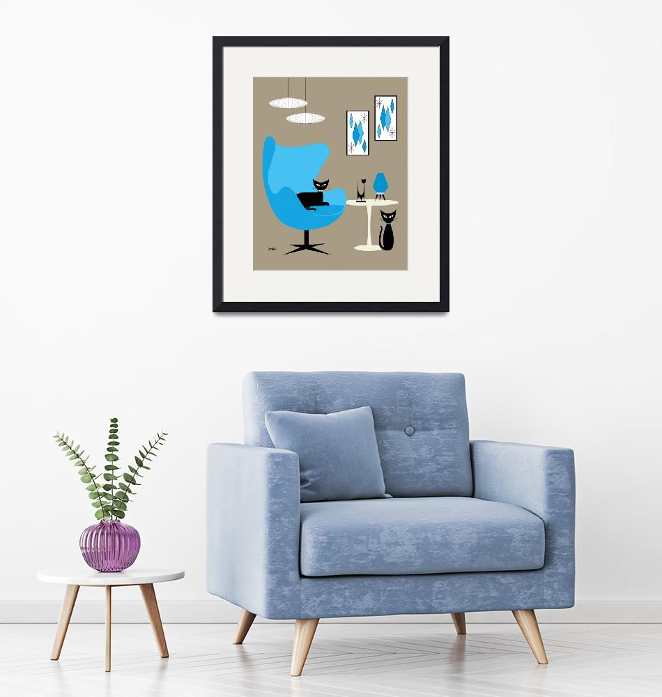 """""""Egg Chair in Blue""""  by DMibus"""