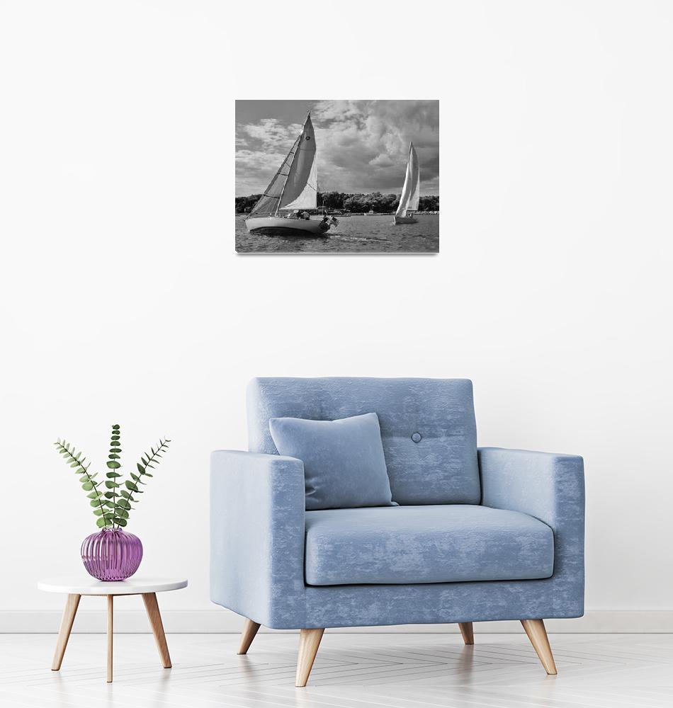 """""""Sailing Close Hauled""""  (2009) by MAGartworks"""