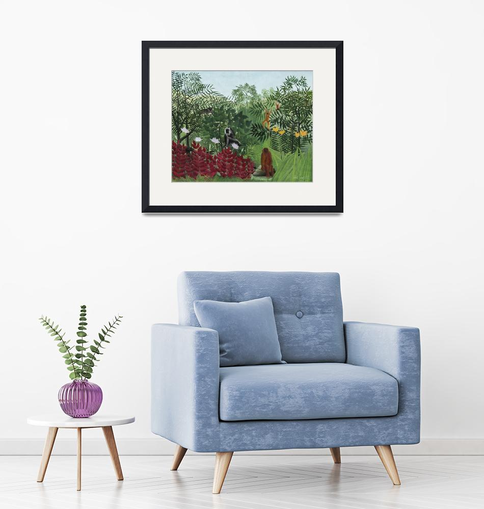 """Tropical Forest with Monkeys by Henri Rousseau""  by FineArtClassics"