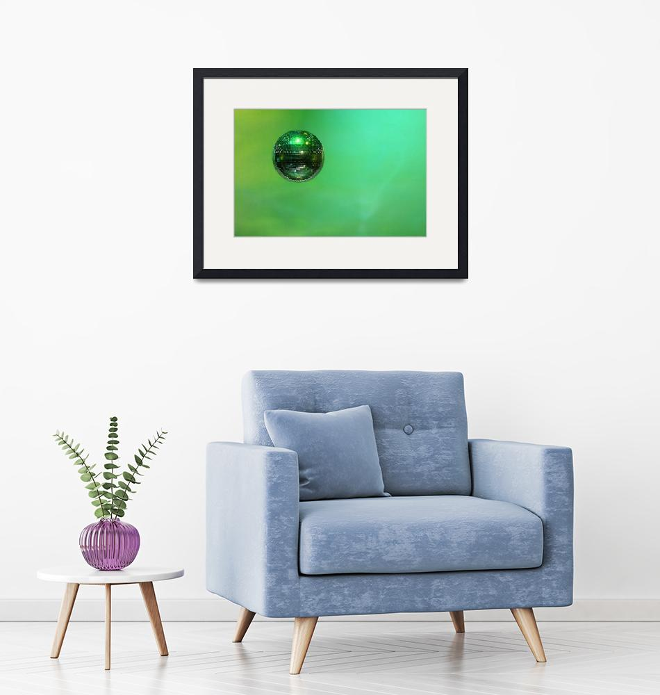 """""""Mirror ball, background, green""""  (2010) by Donshots"""