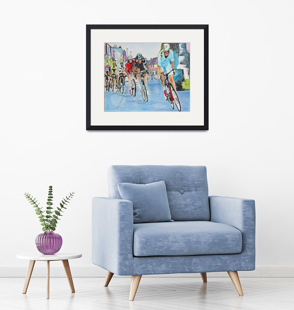 """""""Nibali_Attack_Wins_Stage_2_TdF""""  (2015) by DianaNadalFineArt"""