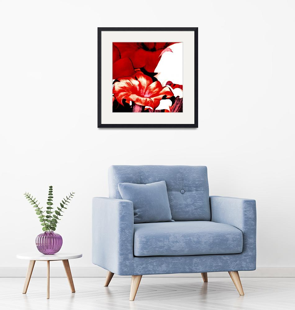 """""""POSTER FLORAL red""""  (2010) by shanmaree"""