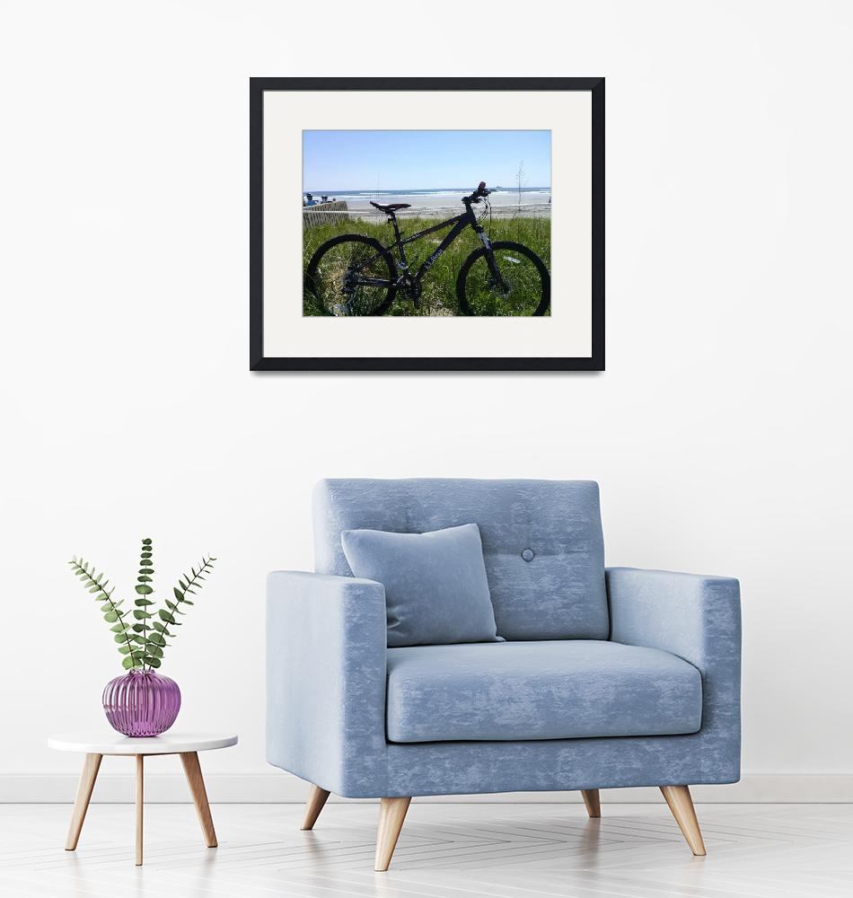 """Bike at the Sea""  (2014) by Shavaun"