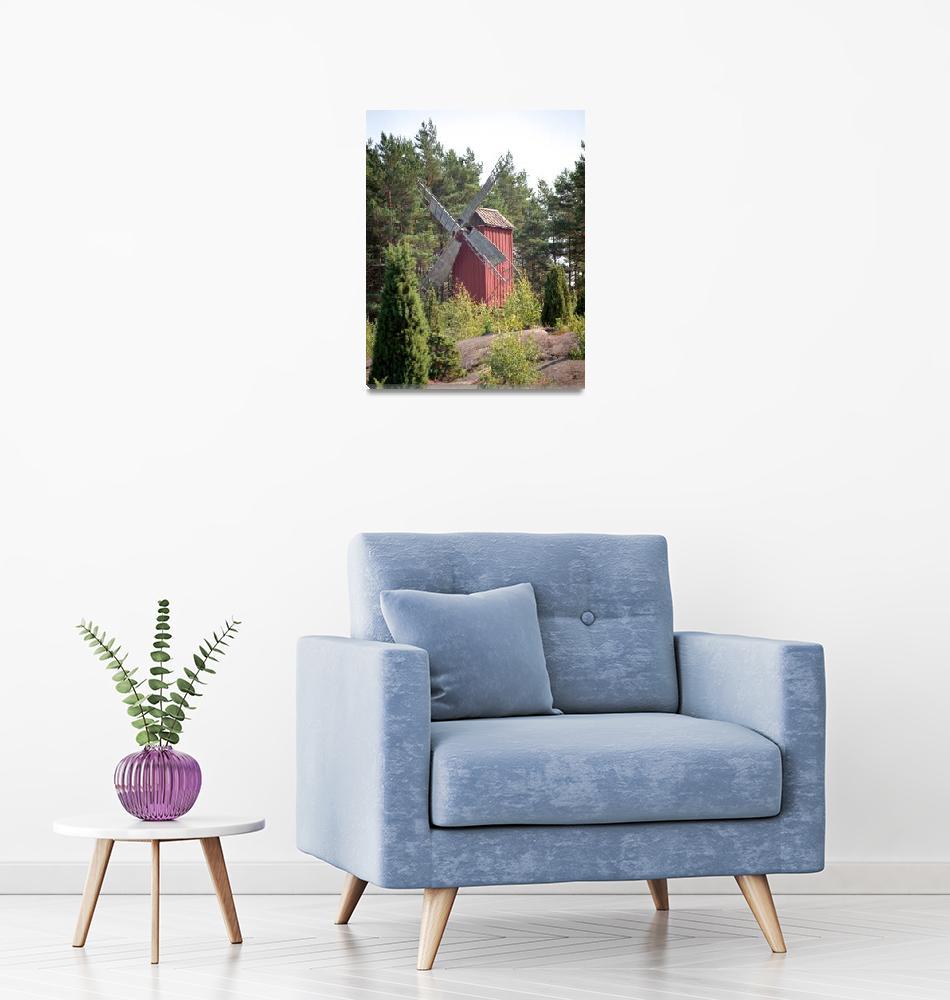 """Windmill in Sund, Aland Islands, Finland""  by jaredjared"