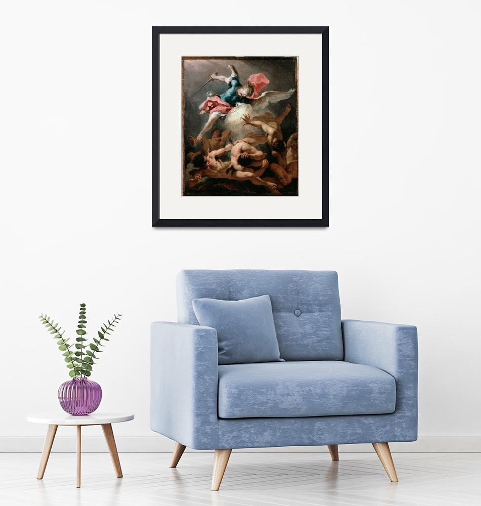 """""""Sebastiano Ricci~The Fall of the Rebel Angels""""  by Old_master"""