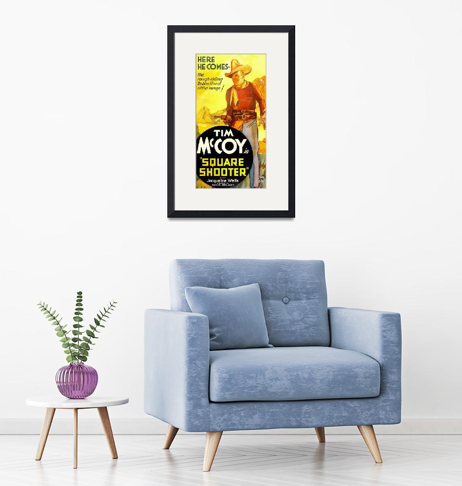 """""""Square Shooter Vintage Movie Poster""""  by FineArtClassics"""