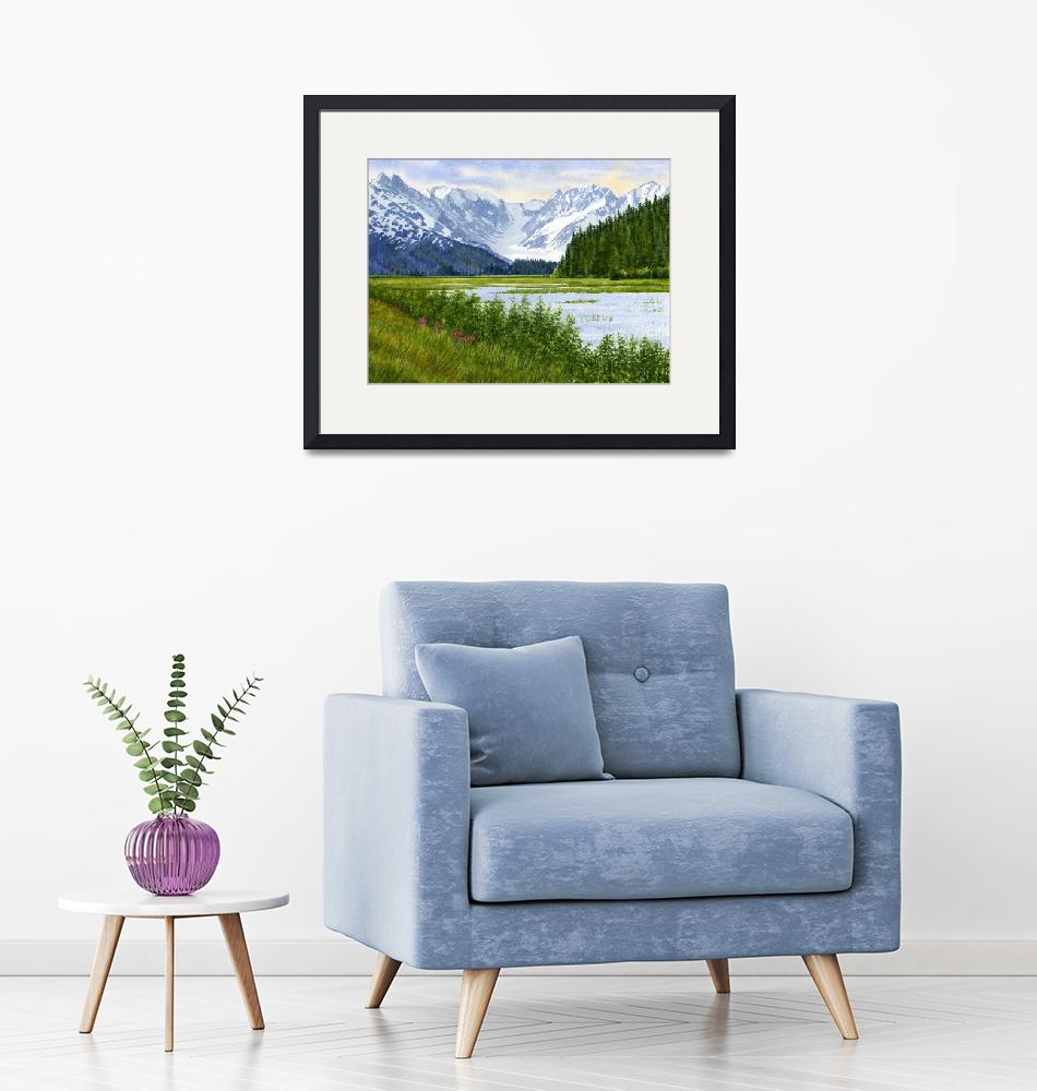 """Chugach Glacier View""  (2012) by Pacific-NW-Watercolors"