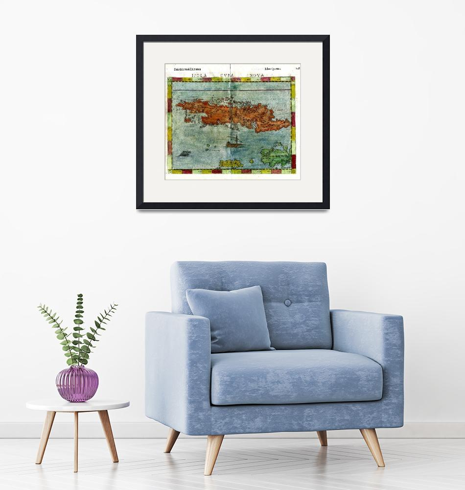 """""""Vintage Map of Cuba (1562)""""  by Alleycatshirts"""