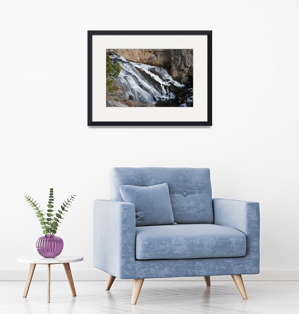"""""""Gibbon Falls at Yellowstone""""  by North22Gallery"""