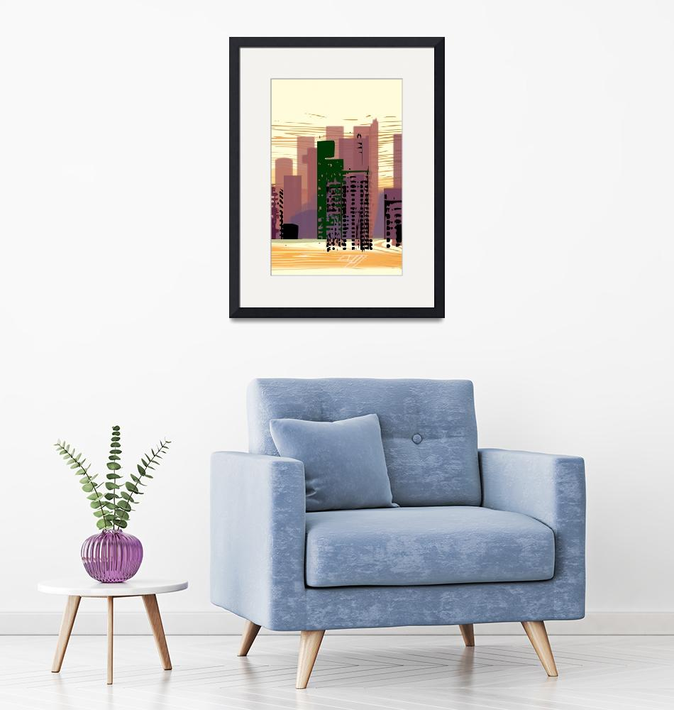 """""""CITY (vertical)"""" (2018) by charker"""