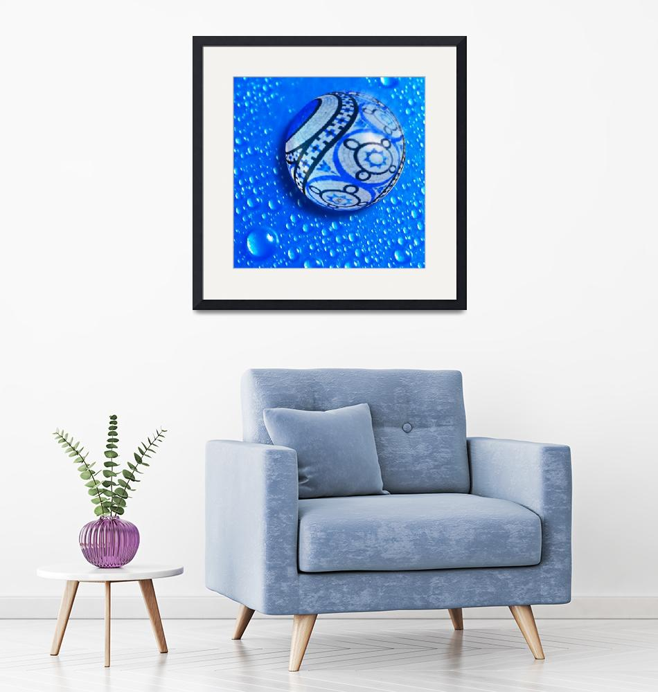 """Stone And Water Orb Abstract""  (2018) by RubinoFineArt"