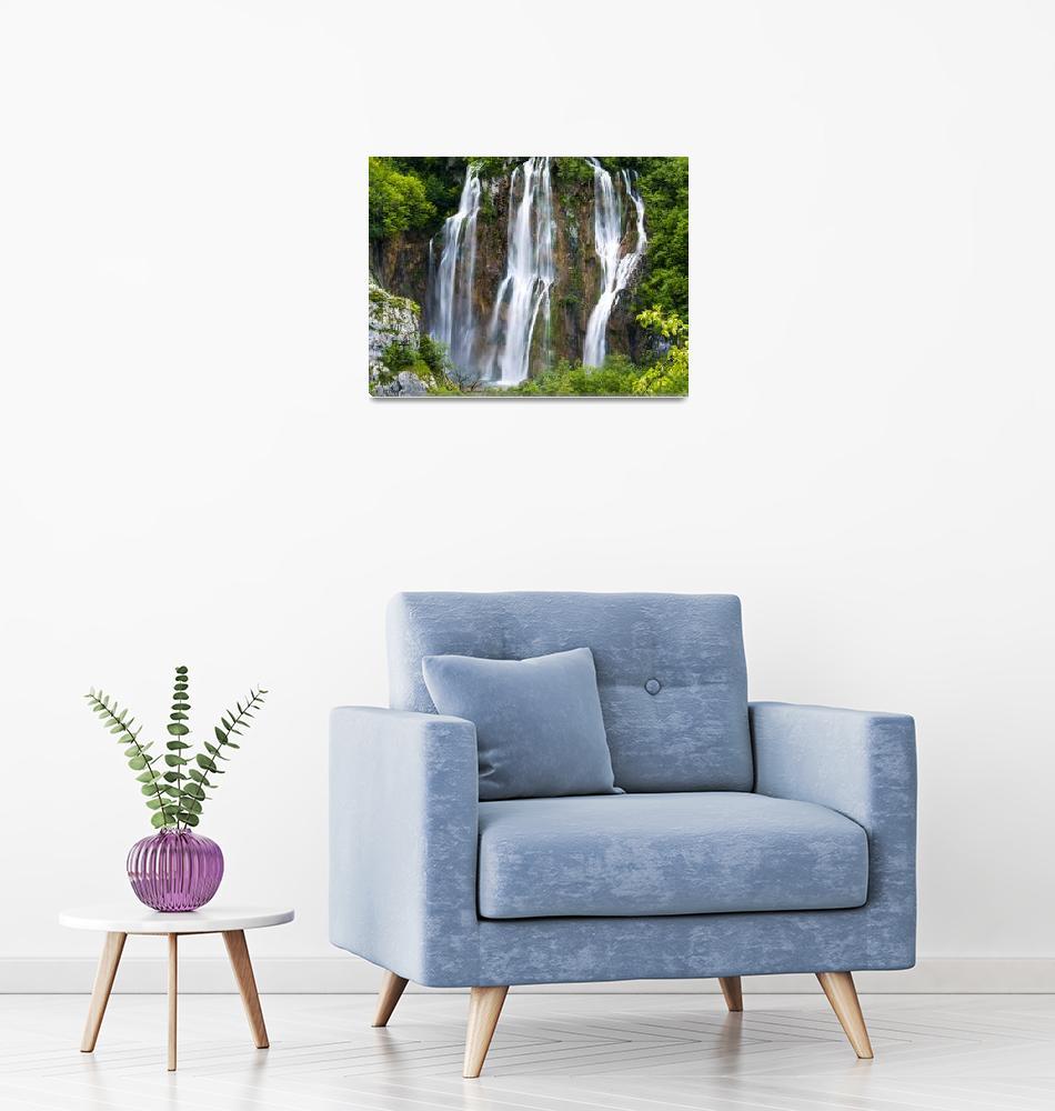 """Plitvice Big Waterfall""  (2016) by raetucker"