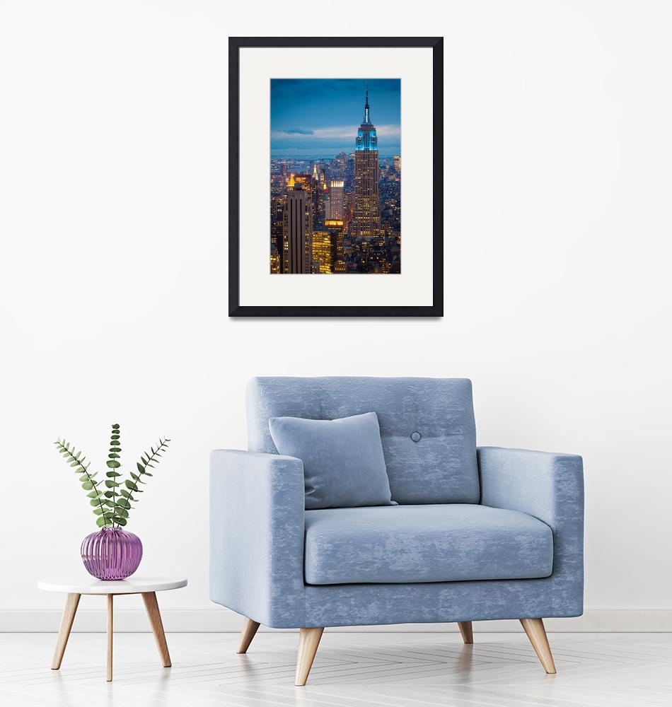 """""""Empire State Blue Night""""  (2011) by Inge-Johnsson"""