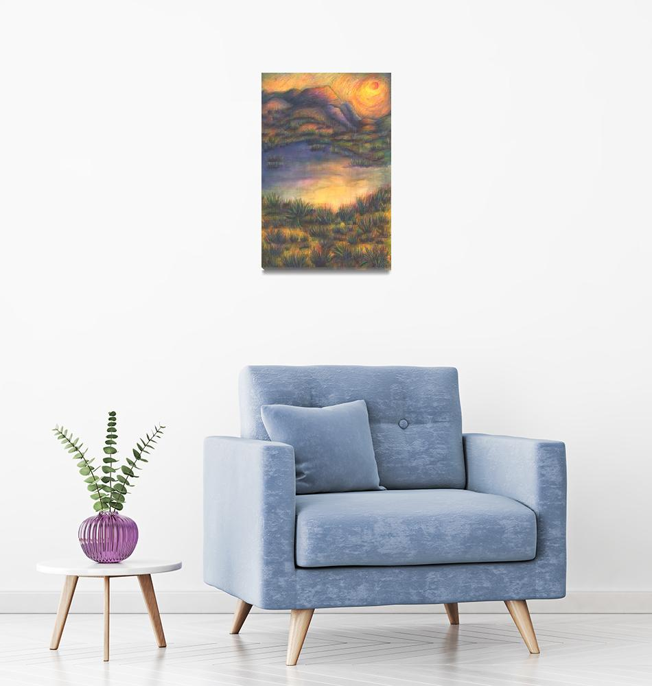 """""""Sunrise Over Dunes and Pond""""  (1997) by Viva_Candita"""