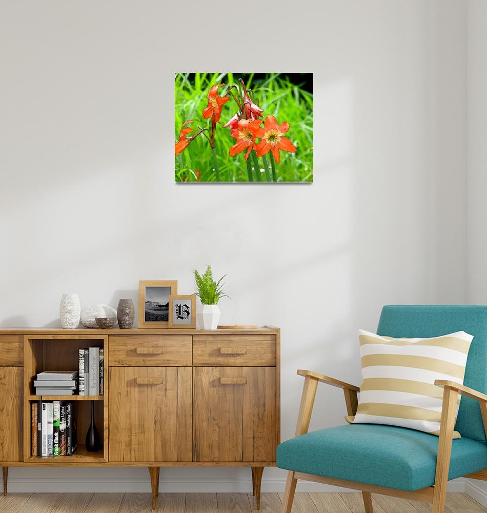 """Wild Flowers Red Lirios""  (2010) by Caribbean-Digital-Art"