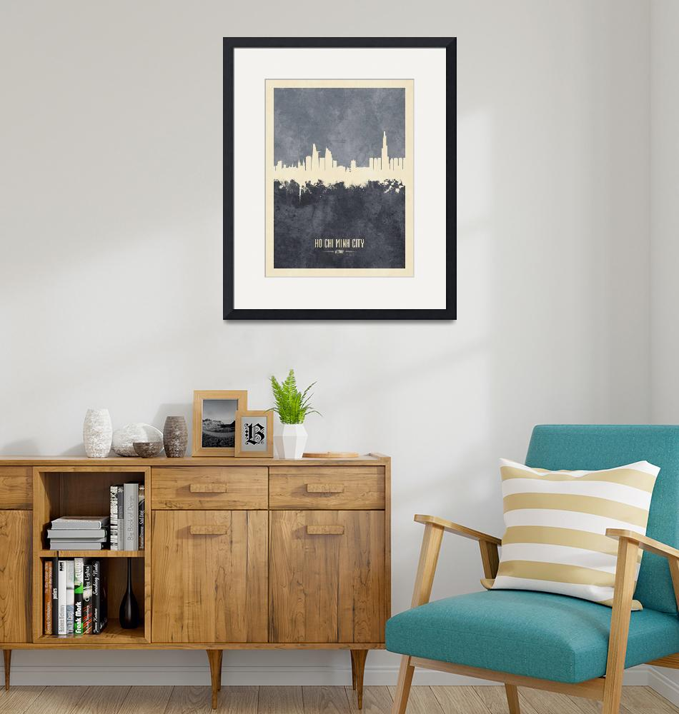 """Ho Chi Minh City Vietnam Skyline""  (2019) by ModernArtPrints"
