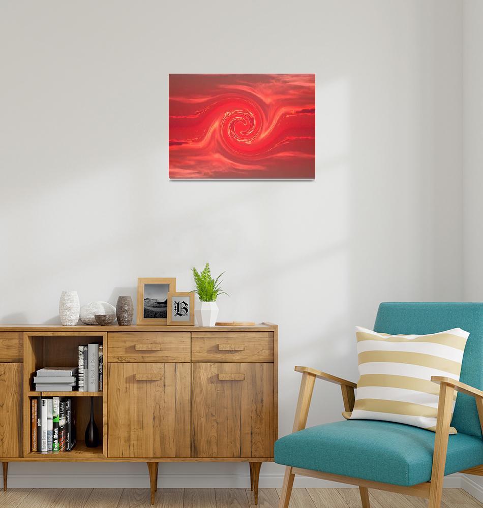"""Red Fighting Phoenix 1""  by Atlantis-Seeker-Art"