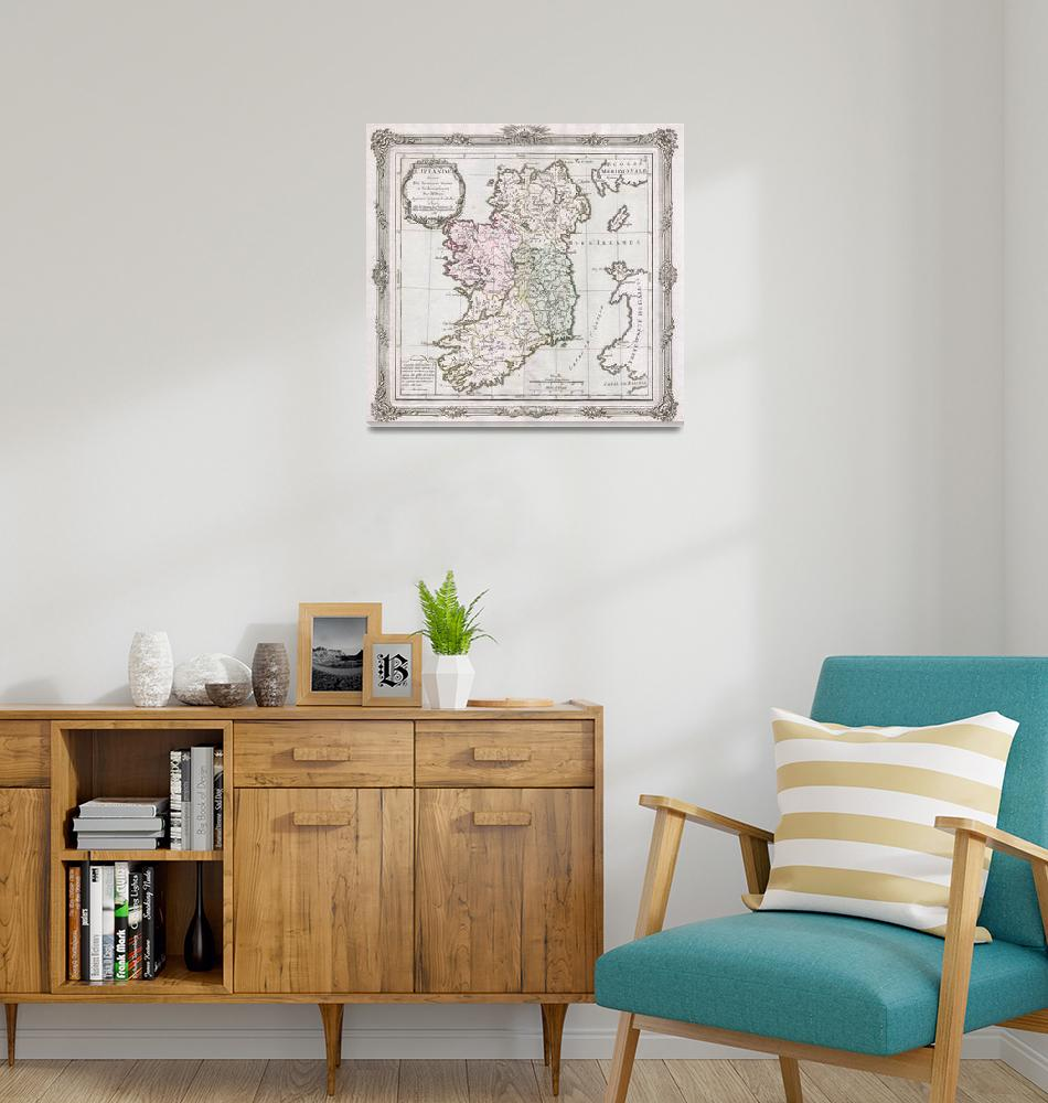 """""""Vintage Map of Ireland (1766)""""  by Alleycatshirts"""