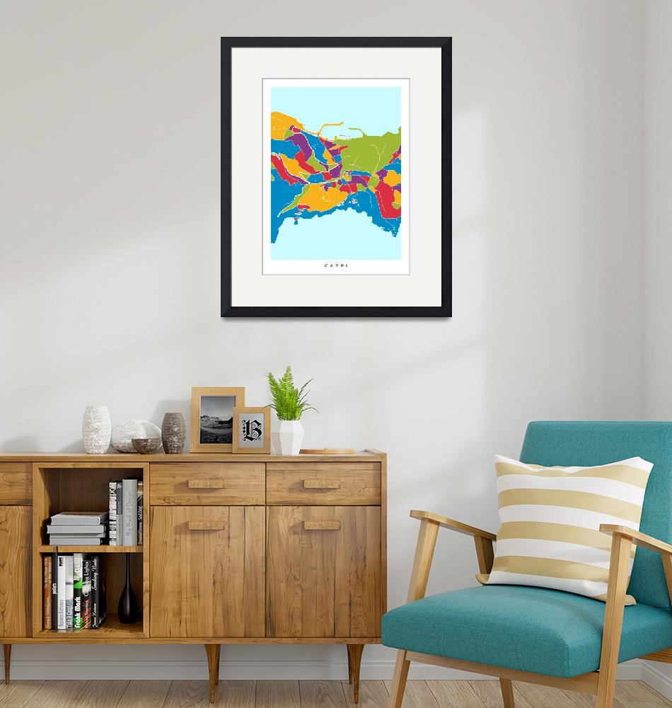 """Capri Italy City Street Map""  (2018) by ModernArtPrints"
