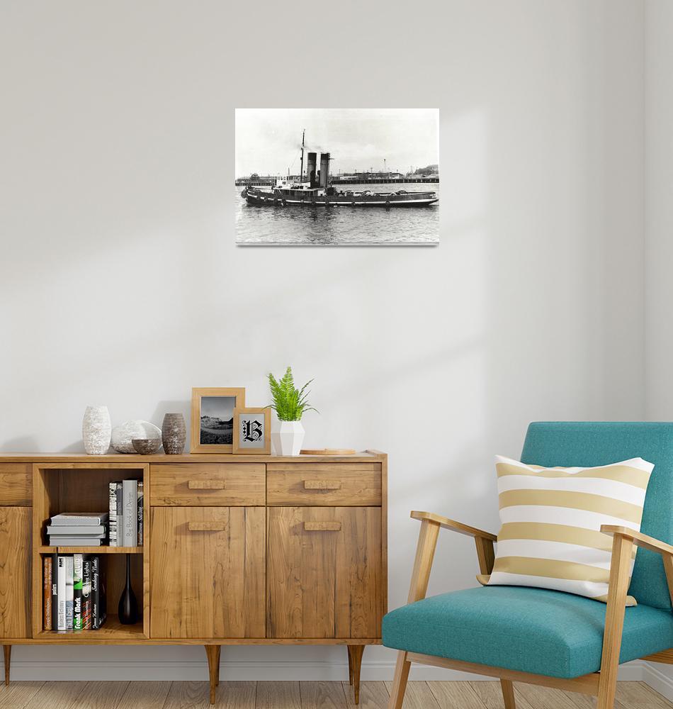 """HW060 James Patterson Steam Tug""  by nevilleprosser"