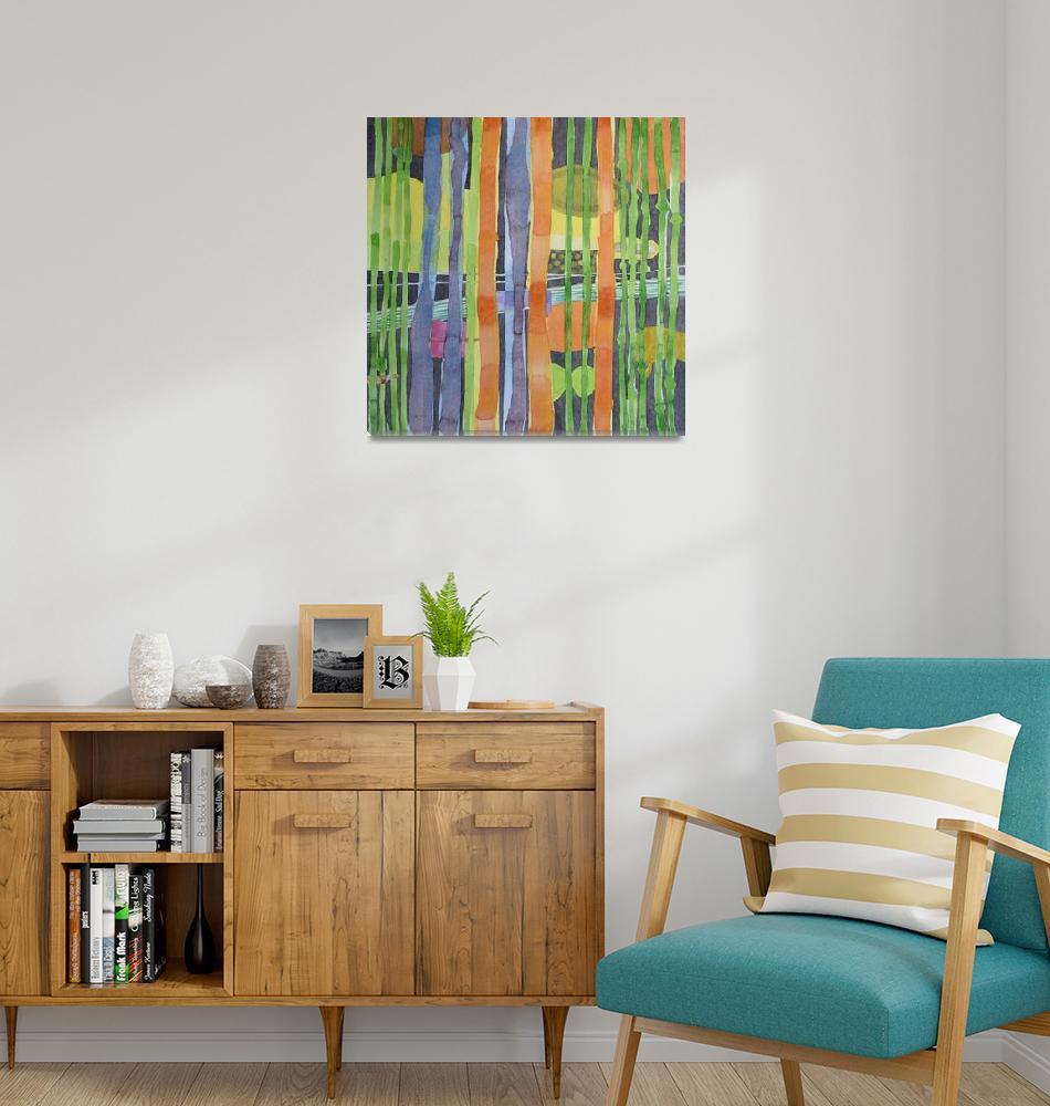 """Bamboo Garden""  (2010) by HeidiCapitaine"