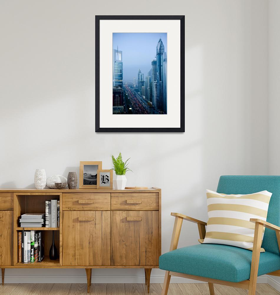 """Dubai – Sheikh Zayed Road""  (2008) by vincos"