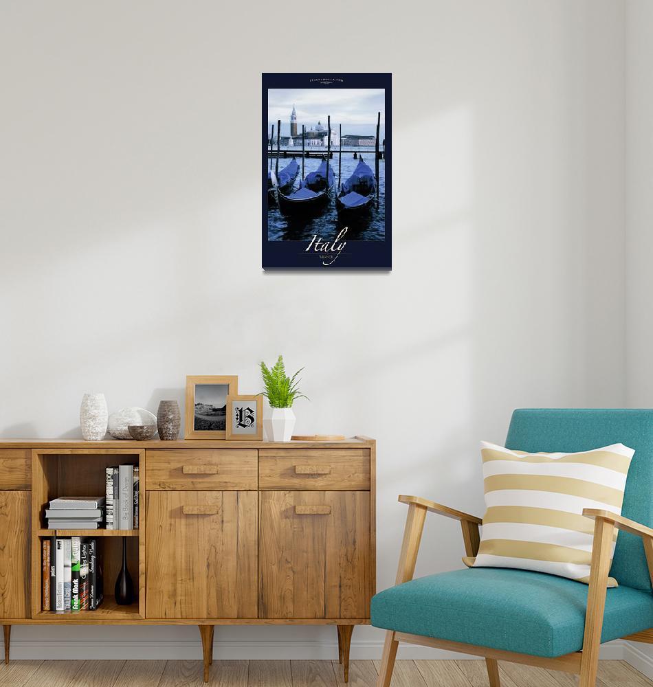 """Gondolas of Venice""  (2008) by Travelerscout"