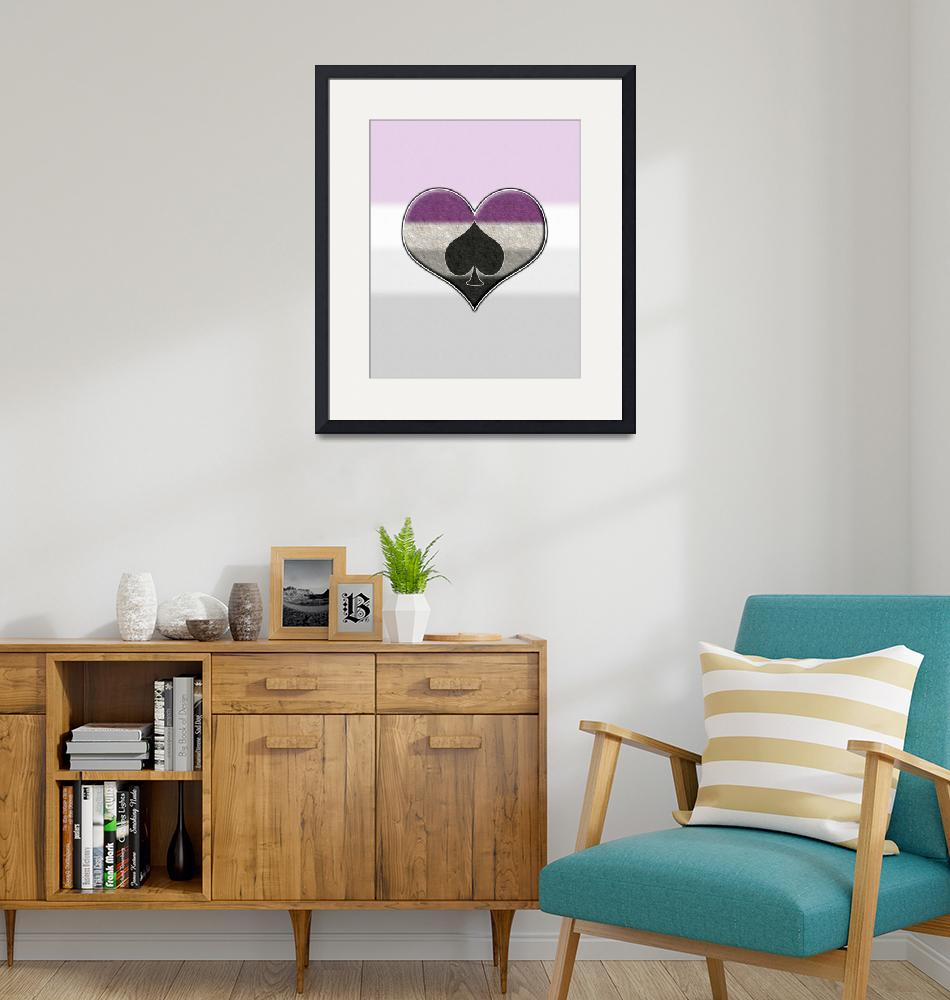"""""""Asexual Pride Heart with Spade""""  by LiveLoudGraphics"""