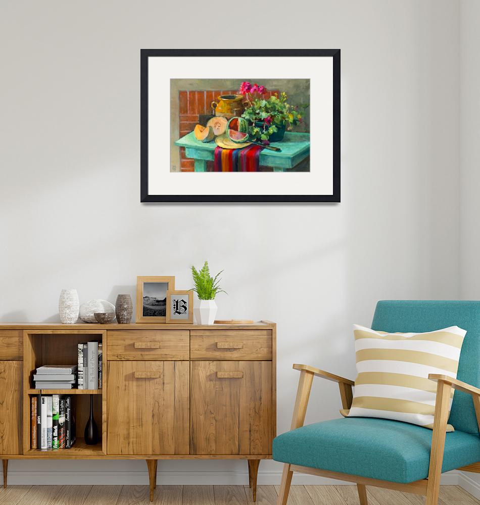 """""""Melon Farm Table""""  (2014) by SusieMuise"""