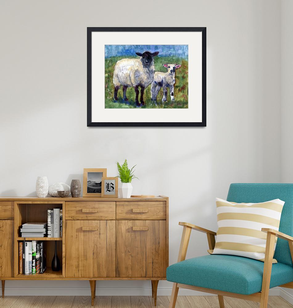 """""""Ewe and Me Against the World, Sheep Print""""  by schulmanart"""