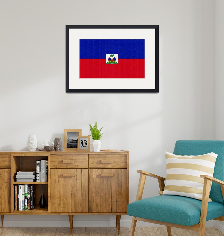 """""""Flag of Haiti ,  County Flag Painting ca 2020 by A""""  by motionage"""