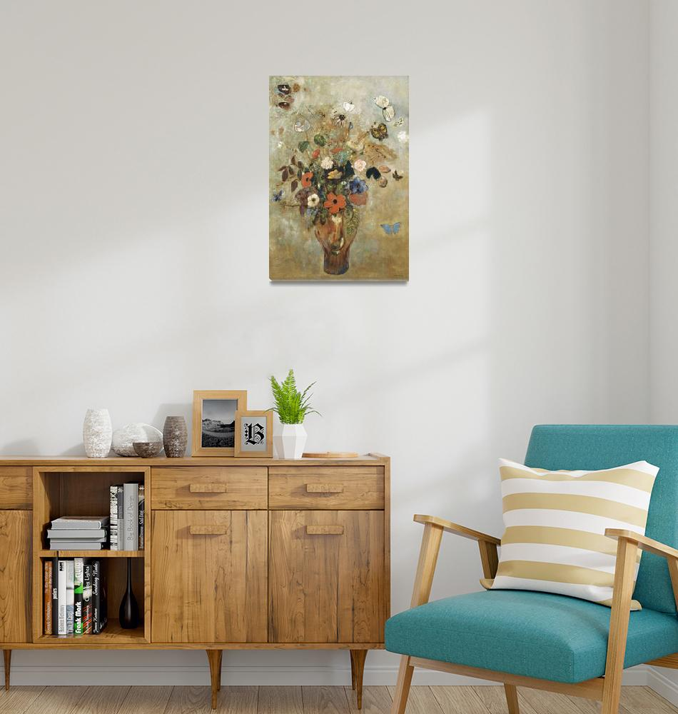 """""""Still Life with Flowers by Odilon Redon""""  by FineArtClassics"""