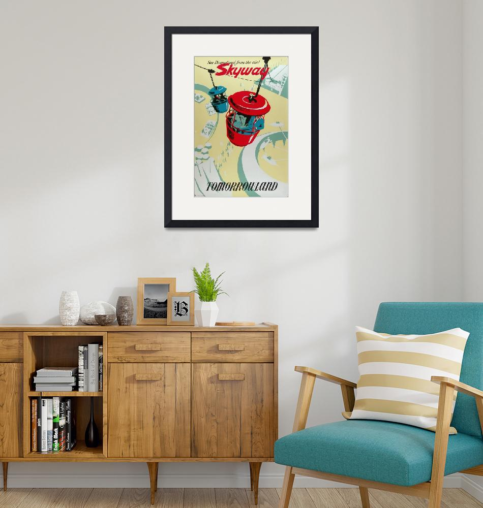 """""""Disney Skyway of Tomorrowland Vintage Poster"""" by FineArtClassics"""