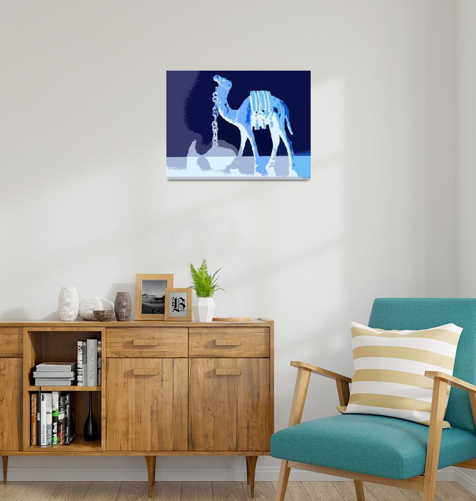 """Blue Camel with Blue Sky""  (2010) by DavidGal"