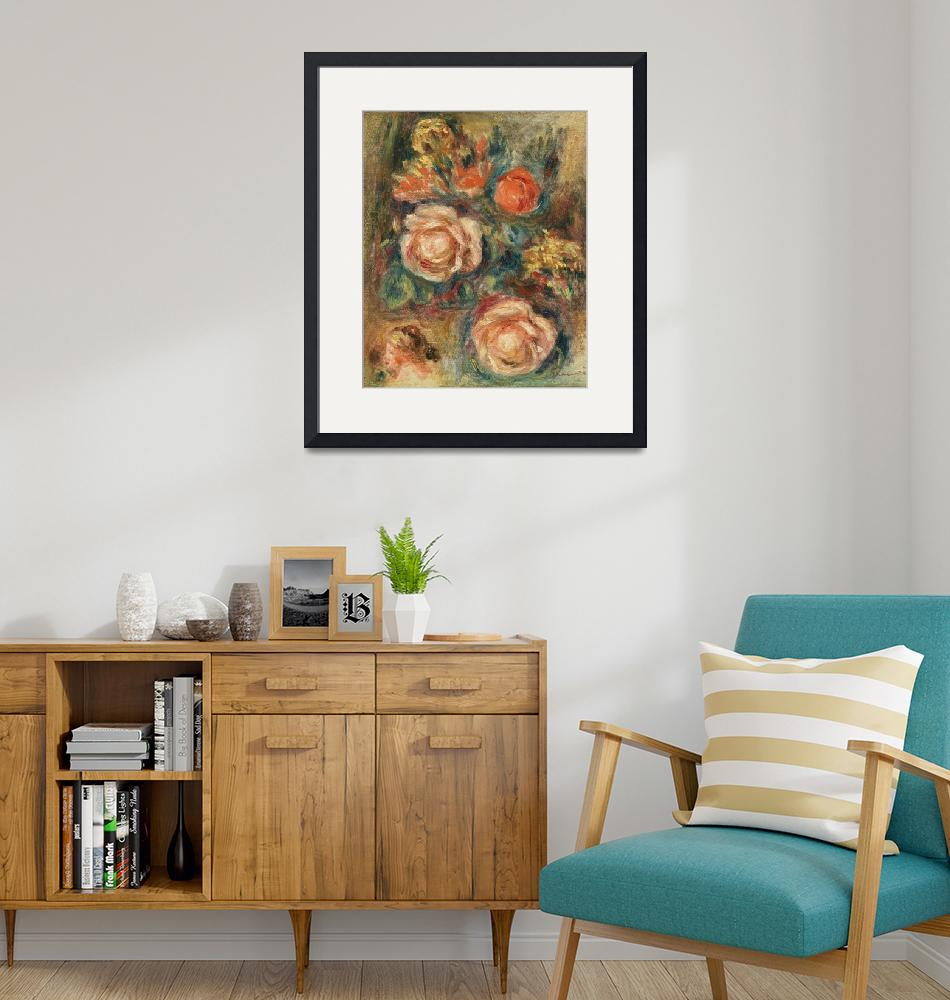 """A Bouquet of Roses by Renoir""  by FineArtClassics"