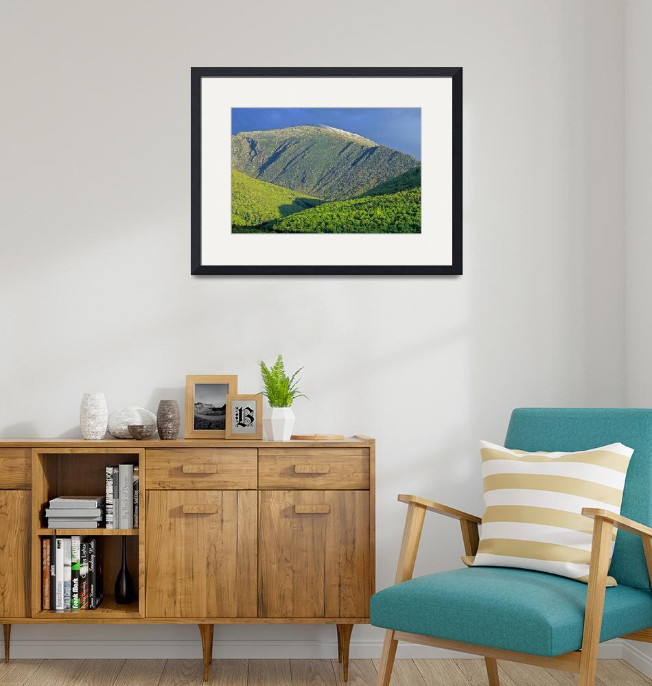 """Mountains of New Hampshire - Mount Jefferson in Sp""  (2007) by timseaver"