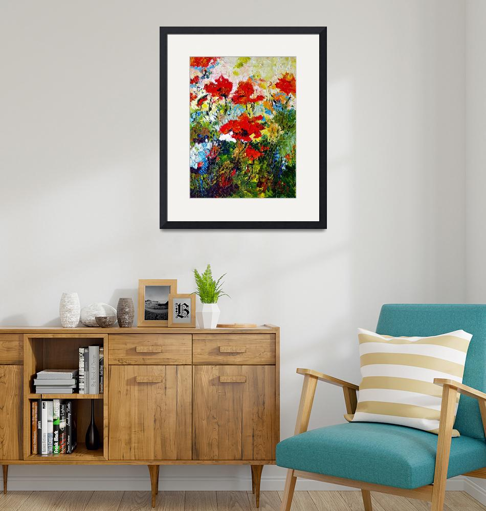 """""""Red Poppies Provencale Oil Painting by Ginette""""  (2009) by GinetteCallaway"""