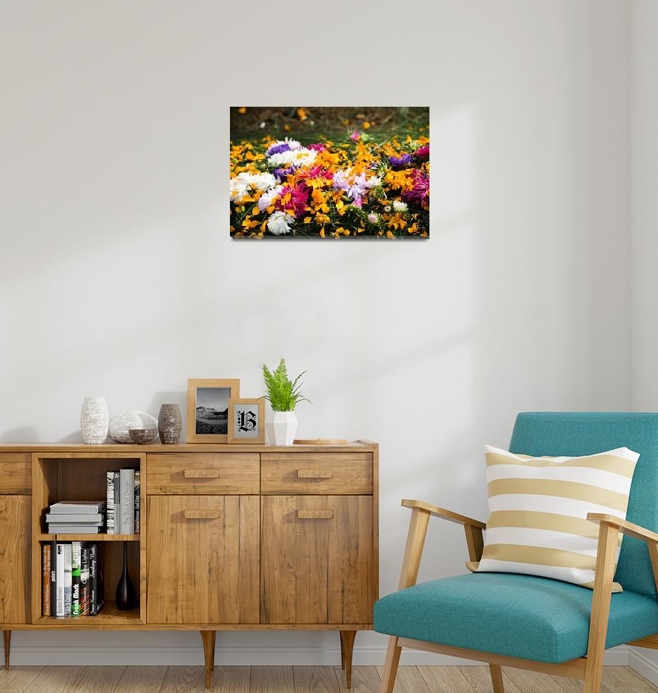 """Floral Grave Arrangement""  (2018) by TrekkingDuo"