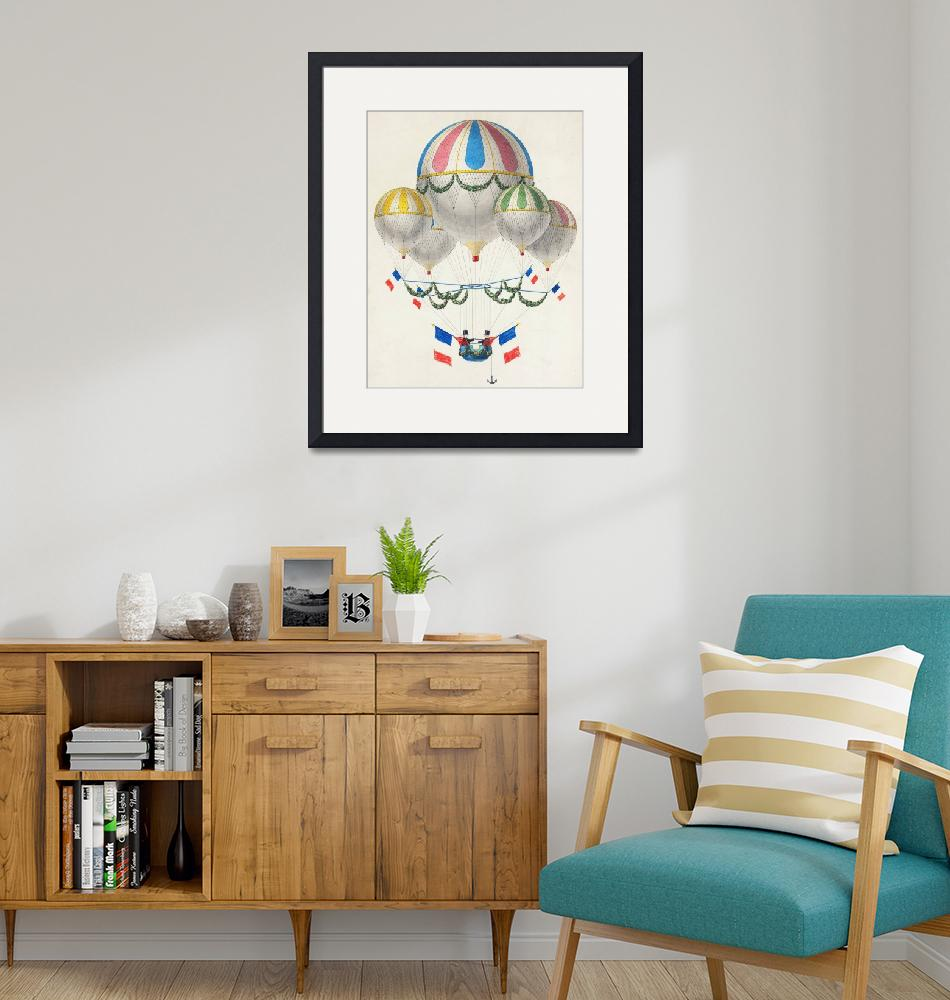 """""""Vintage Illustration of Hot Air Balloons"""" by FineArtClassics"""