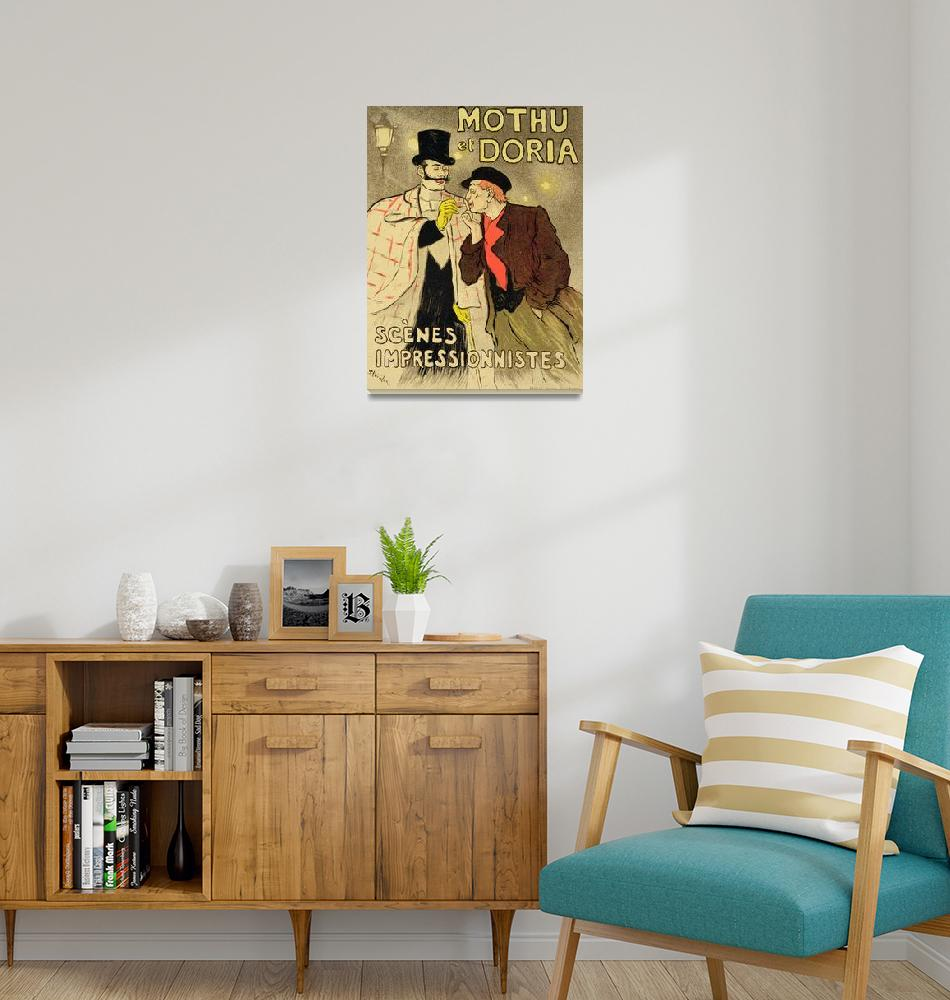 """""""Reproduction of a poster advertising Mothu and Dor""""  by fineartmasters"""