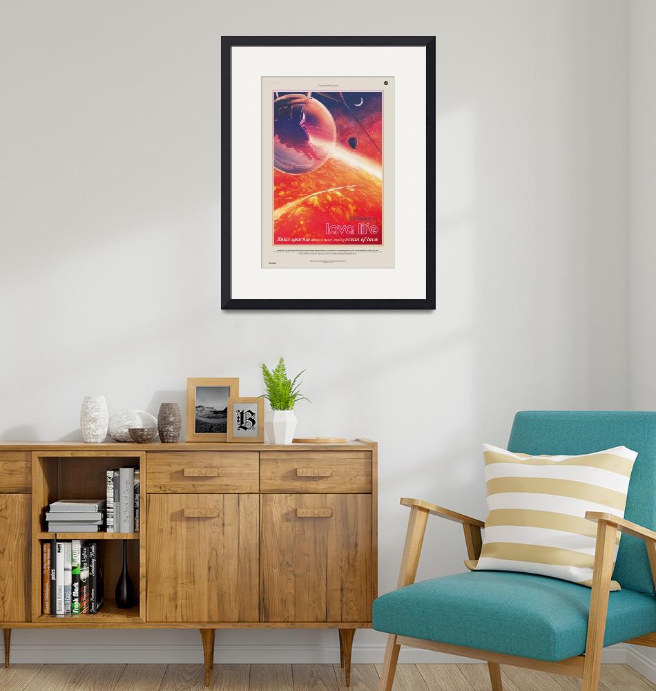 """NASA Lava Life Space Travel Poster"" by FineArtClassics"