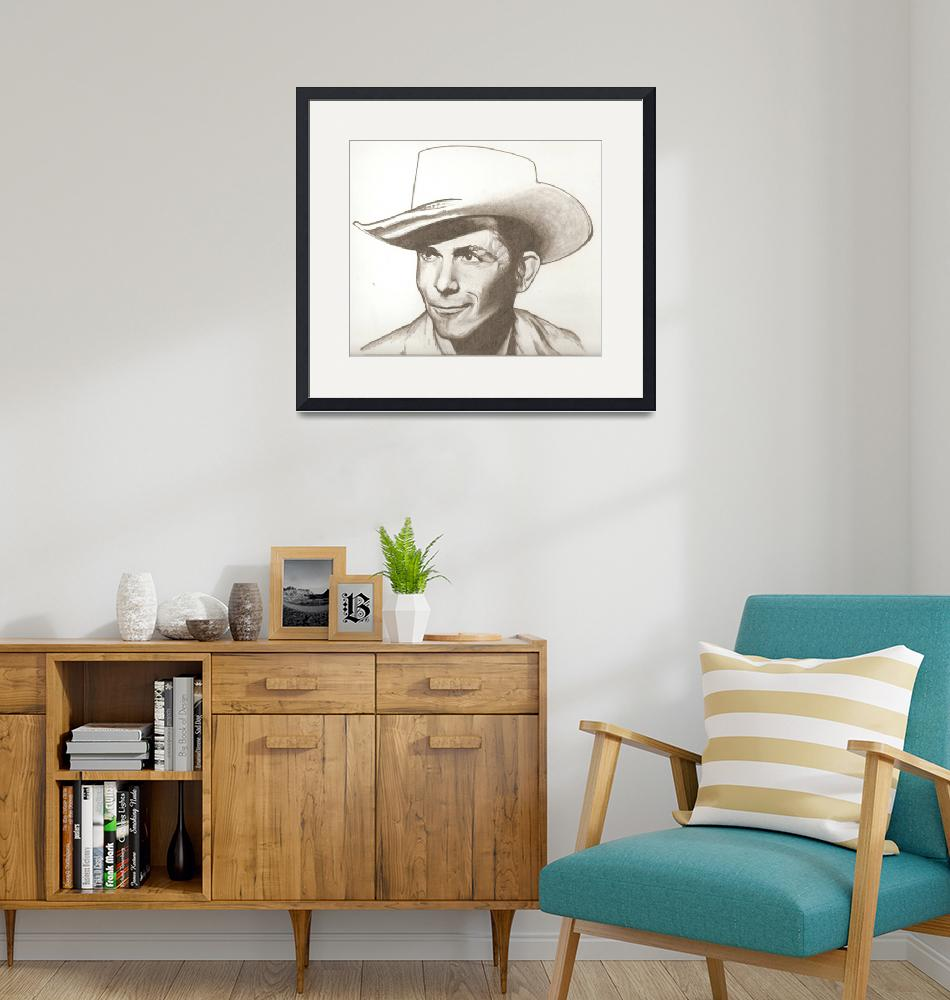 """Hank Williams drawing""  (2013) by RobCrandall"
