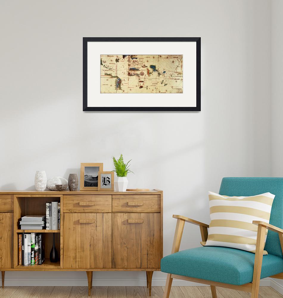 """""""Copy of Monumenta Cartographia, 1502 colour litho""""  by fineartmasters"""