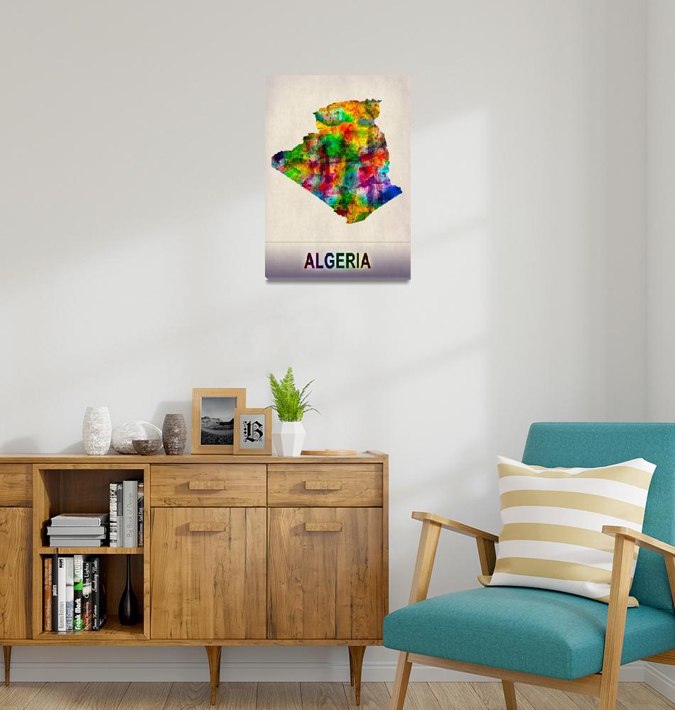 """""""Algeria Map""""  by Towseef"""