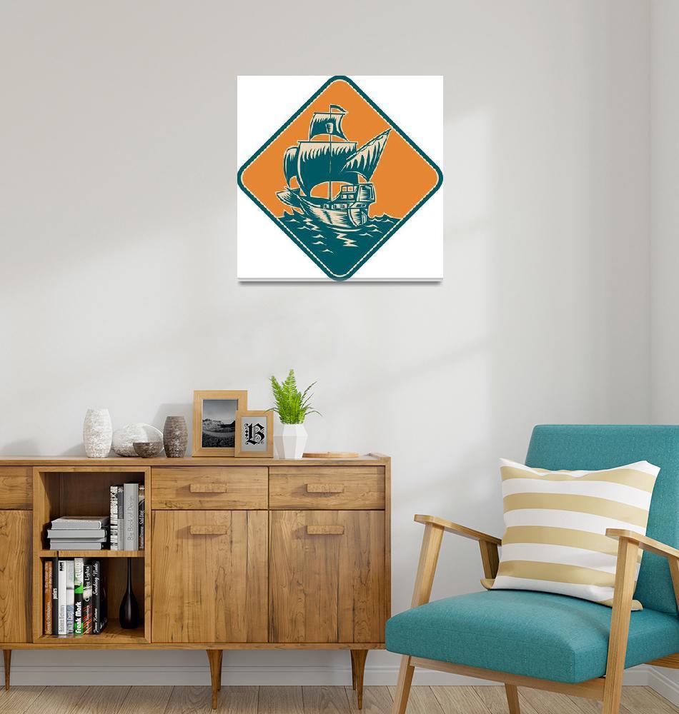 """logo_ship_galleon_trade""  by patrimonio"