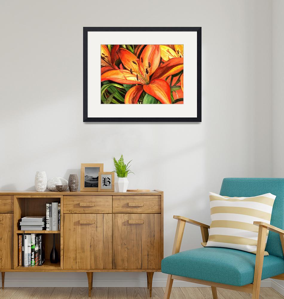 """""""Tiger Lilies""""  (2011) by creativemoods"""
