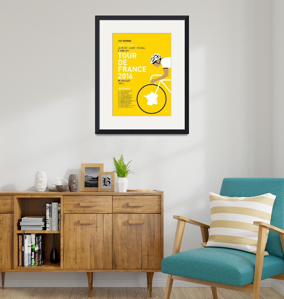 """""""MY TOUR DE FRANCE MINIMAL POSTER 2016""""  by Chungkong"""