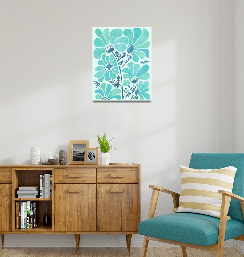 """""""Himalayan Blue Poppies""""  (2018) by moderntropical"""