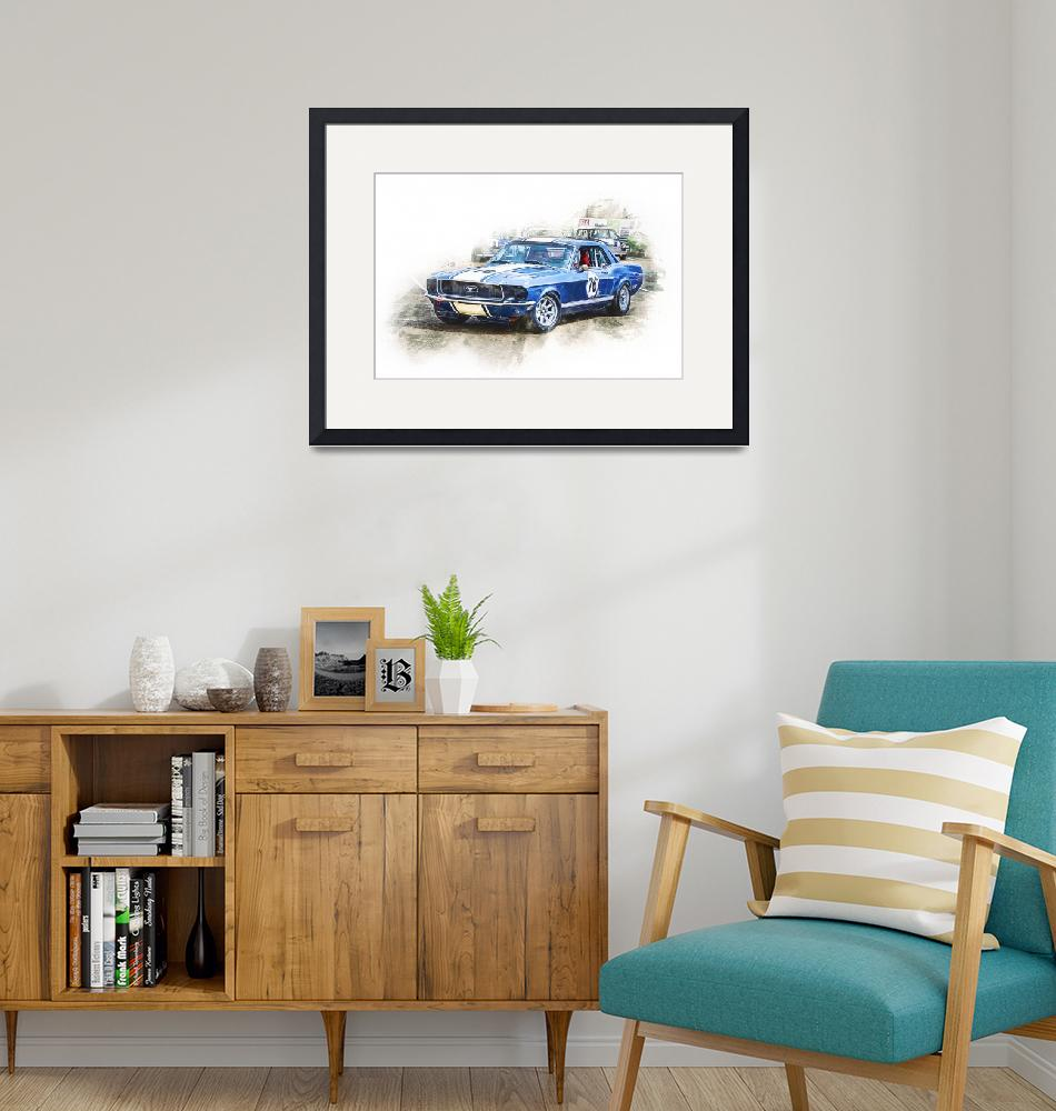 """""""1968 Mustang""""  (2019) by StuartRow"""